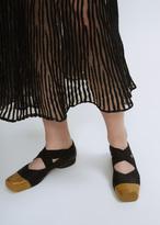 Uma Wang black / tan ballerina shoes