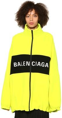 Balenciaga Fluo Herringbone Wool Blend Jacket