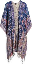 Raj Imports Women's Kimono Cardigans INDIGO - Indigo & Cream Floral Kimono - Women