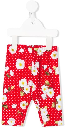 MonnaLisa floral polka dot print leggings