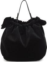 Simone Rocha Double bow velvet shoulder bag
