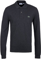 Lacoste Charcoal Grey Long Sleeved Pique Polo Shirt