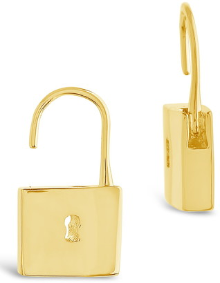 Sterling Forever 14K Yellow Gold Plated Open Lock Drop Earrings