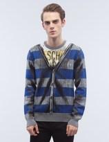Moschino Crewneck Fake Caridgan Print Sweater