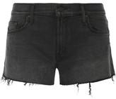 Mother The Teaser Frayed Denim Shorts