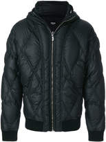 Versus diamond quilted bomber jacket