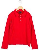 Oscar de la Renta Boys' Long Sleeve Polo Shirt