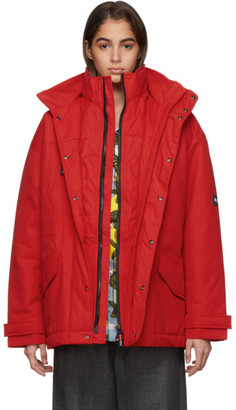 Martine Rose Red A-Andean Jacket