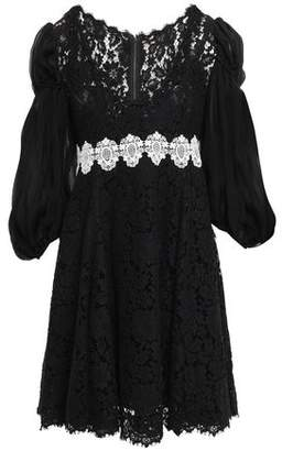 Dolce & Gabbana Embroidered Corded Lace Mini Dress
