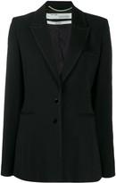 Off-White Off White slim fit contrast stitching blazer