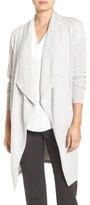 Halogen Women's Cashmere Long Drape Front Cardigan