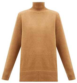 The Row Sadel Roll-neck Cashmere Sweater - Camel