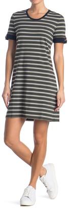 Tommy Hilfiger Ideal Stripe Grommet Sleeve T-Shirt Dress