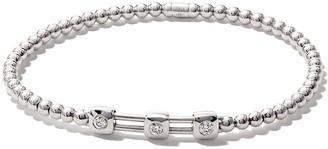 As 29 18kt white gold ALF 3-square extendable diamond bracelet