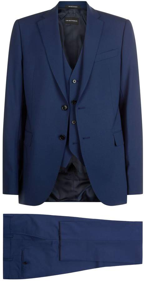 Emporio Armani Wool Three-Piece Suit
