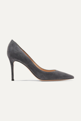 Gianvito Rossi 85 Suede Pumps - Dark gray