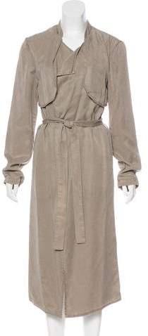 Monrow Long Trench Coat
