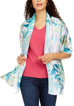 INC International Concepts Inc Garden Flora Printed Wrap, Created for Macy's