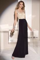 Alyce Paris - Beaded Bataeu Neck Long Sheath Dress 5685