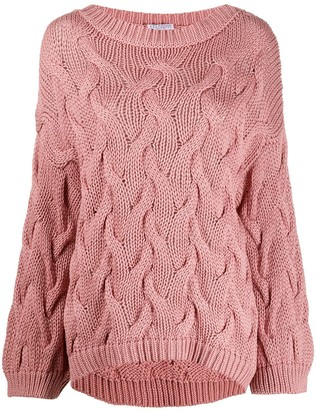 Brunello Cucinelli Oversized Cable Knit Jumper