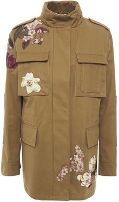Valentino Embroidered Cotton-twill Jacket