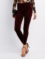 Charlotte Russe Velvet High-Rise Leggings