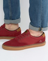 Emerica Provost Trainers In Red