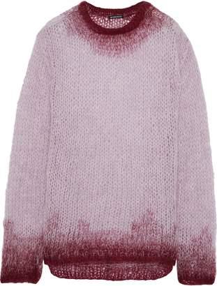 Ann Demeulemeester Rosen Degrade Open-knit Mohair-blend Sweater