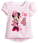 Disney Minnie Mouse ''I Am 4'' Birthday Tee for Girls