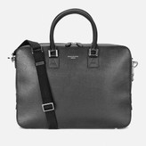 Aspinal of London Men's Mount Street Small Briefcase - Black