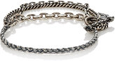 M. Cohen Men's Two-Layer Flail Chain Bracelet-SILVER