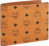 MCM Visetos Coated Canvas Billfold Wallet, Brown, One Size
