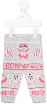 Kenzo Kids Ribbed Knit Pants
