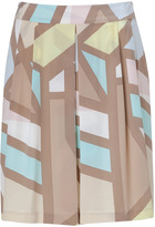 Pastel-Multi Softie Tribeca Printed Silk Skirt