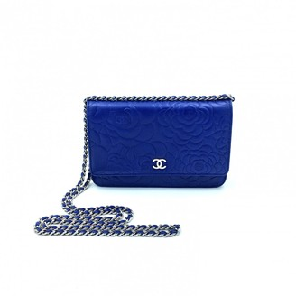 Chanel Wallet on Chain Blue Leather Handbags