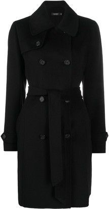 Lauren Ralph Lauren Belted Double-Breasted Wool Coat