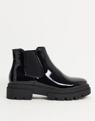 Glamorous chunky chelsea boot in black