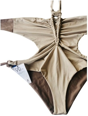 BEIGE Non Signe / Unsigned Lycra Swimwear for Women