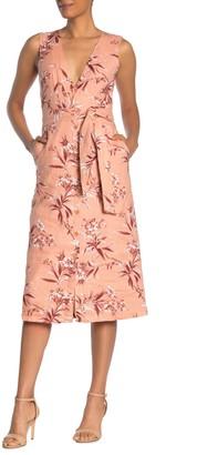 Joie Ethelda Floral Waist Tie Linen Dress