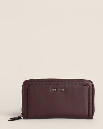 Nine West Dark Garnet Vesper SLG Zip-Around Wallet
