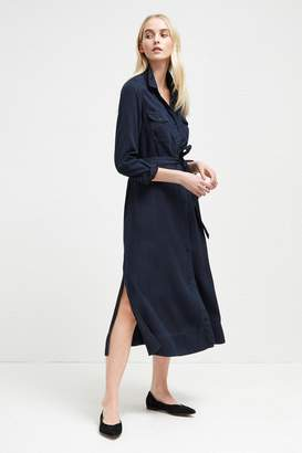 French Connection Tandy Tie Waist Shirt Dress