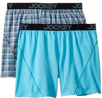 Jockey No Bunch Boxer 2-Pack (Rainy Day Plaid/Blue Uranos) Men's Underwear