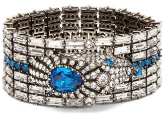 Gucci Crystal-embellished Snake Bracelet - Womens - Blue