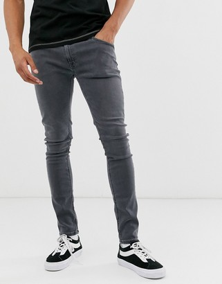 Nudie Jeans Skinny Lin skinny fit jeans in concrete gray wash