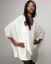 Lurie Bamboo-Cotton Poncho