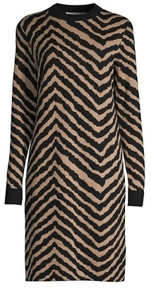 HUGO BOSS Fadrella Chevron Knit Dress