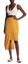 Elliatt Marigold Asymmetrical Pleated Skirt