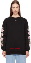 Off-White Black Oversized Diagonal Cherry Sweatshirt