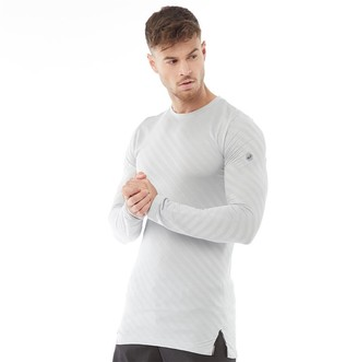 Asics Mens Seamless Long Sleeve Training Top Stone Grey