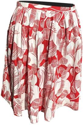 Moschino Cheap & Chic Moschino Cheap And Chic Red Cotton - elasthane Skirt for Women